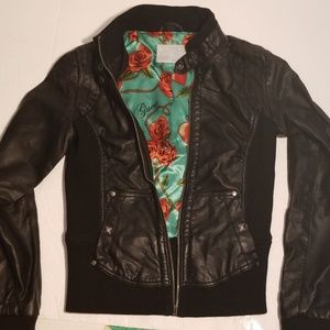 Womens Small faux leather jacket